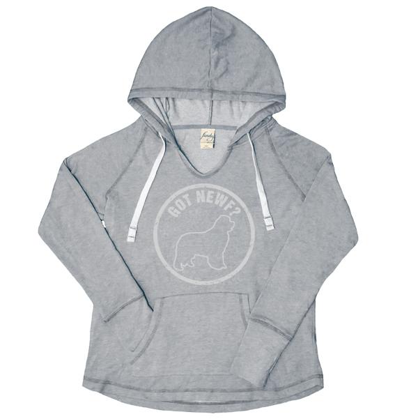 Got Newf V-Notch Women's Hoody (soft grey)