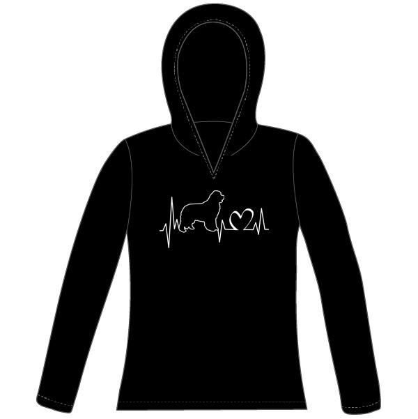 Heartbeat Women's Hooded Pullover (black)