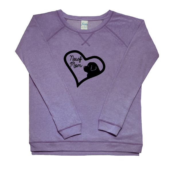 Newf Mom Women's Fleece Crewneck (purple)